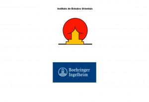 Obr. 09 – Dvojsmysl, který se tvůrcům vloudil do loga Institutu orientálních studií, již obrazil celý svět. Někdy ale nemusí být dvojsmysl tak zřetelný – piktogram v logu Boehringer Ingelheim může připomínat vztyčený prostředníček.