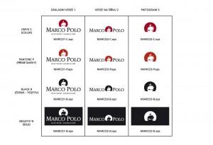 Obr. 13 – Tabulka, která představuje všechny povolené tvarové a barevné varianty značky Marco Polo.